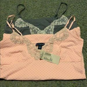 2 American Eagle polka dotted camisoles